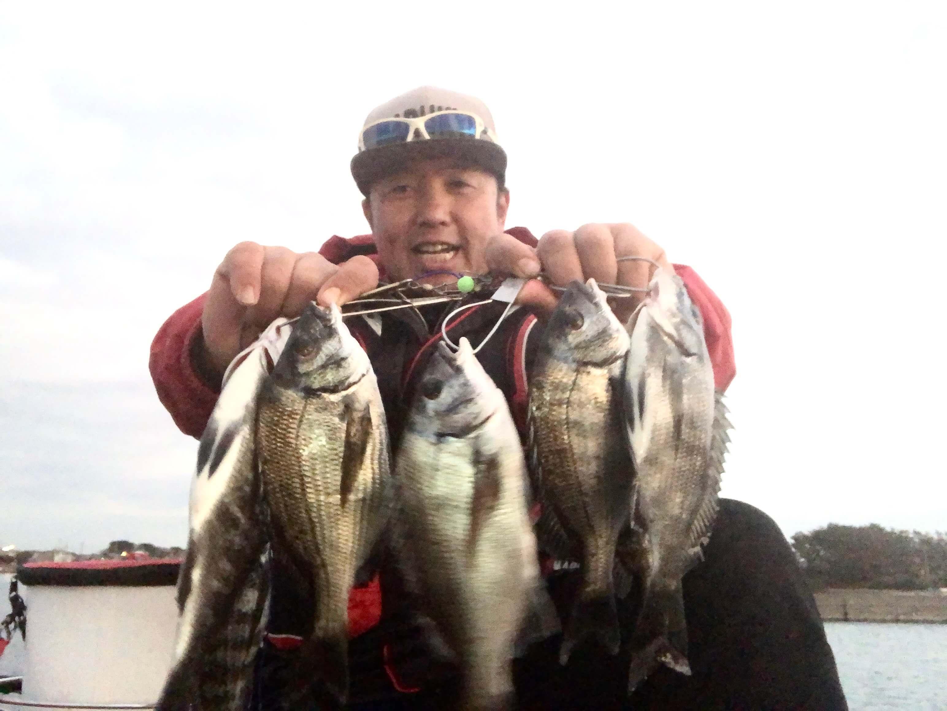 2020年01月12日(日曜日)|クロダイ・チヌ(ウキダンゴ釣り)|静岡県 – 浜名湖 |ウキ紀州・ダンゴ|フィールドスタッフ佐々木 博司