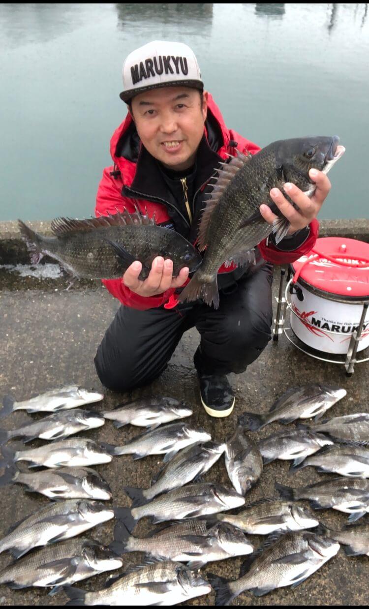2020年02月16日(日曜日)|クロダイ・チヌ(ウキダンゴ釣り)|静岡県 – 浜名湖|ウキ紀州・ダンゴ|フィールドスタッフ佐々木 博司