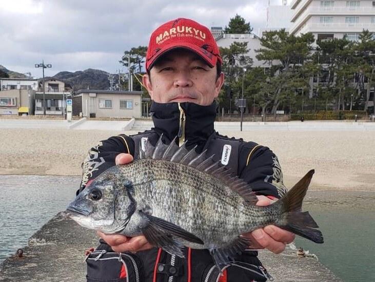 2020年02月09日(日曜日)|クロダイ・チヌ(フカセ釣り)|兵庫県 – 須磨一文字堤防|ウキフカセ|フィールドスタッフ野間 洋