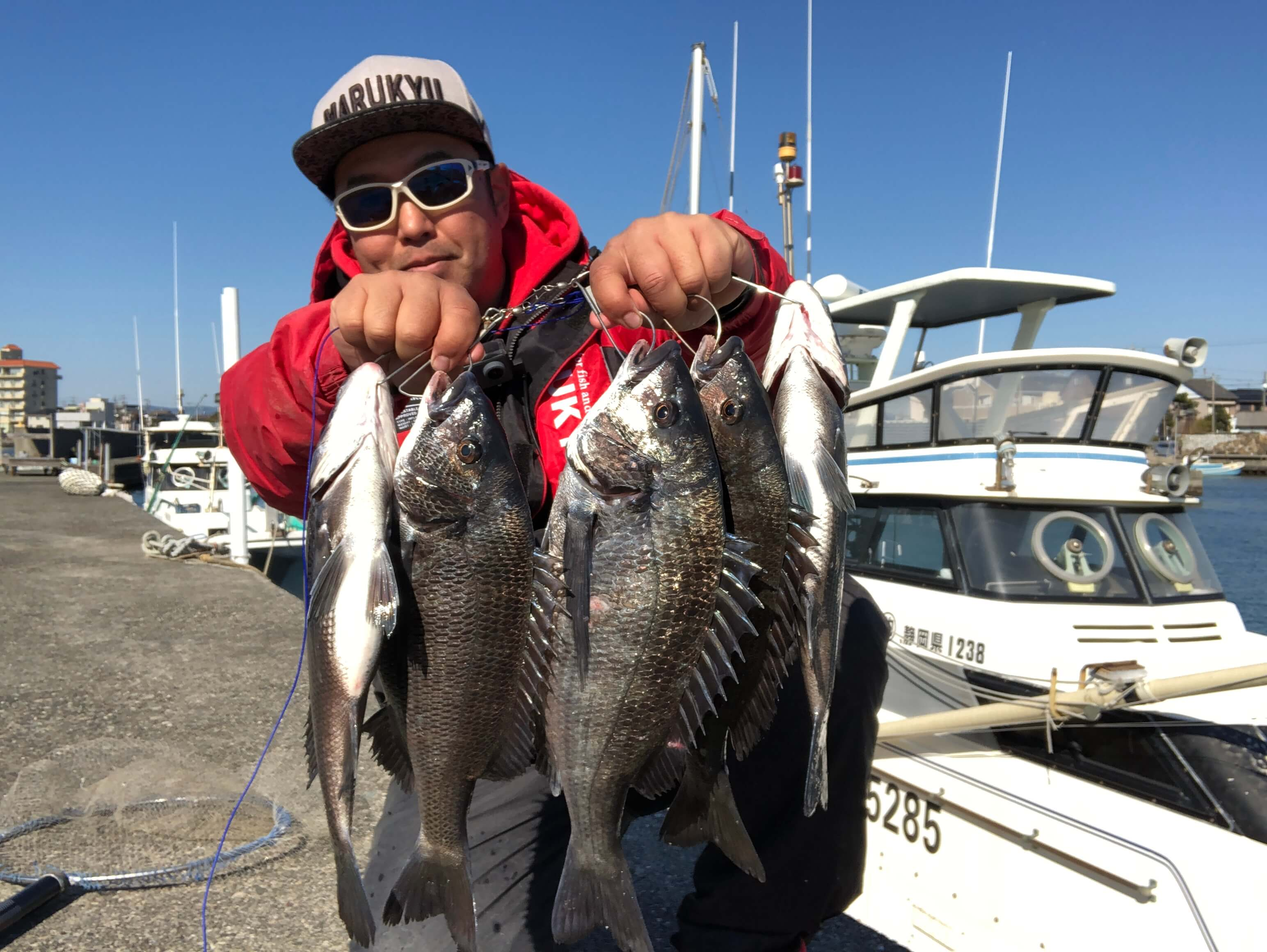 2020年02月11日(火曜日)|クロダイ・チヌ(ウキダンゴ釣り)|静岡県 –  浜名湖|ウキ紀州・ダンゴ|フィールドスタッフ佐々木 博司