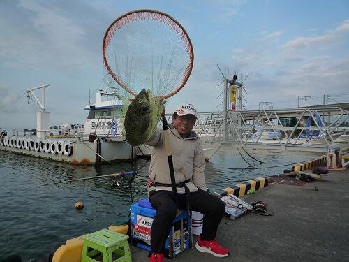 2021年07月26日(月曜日)|クロダイ・チヌ(ウキダンゴ釣り)|愛知県 – 常滑港|ウキ紀州・ダンゴ|フィールドテスター中村 輝夫